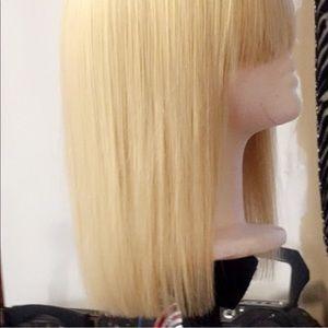 9a 613 blonde Brazilian body wave bob with bang